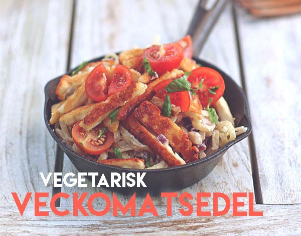vegetarisk matsedel