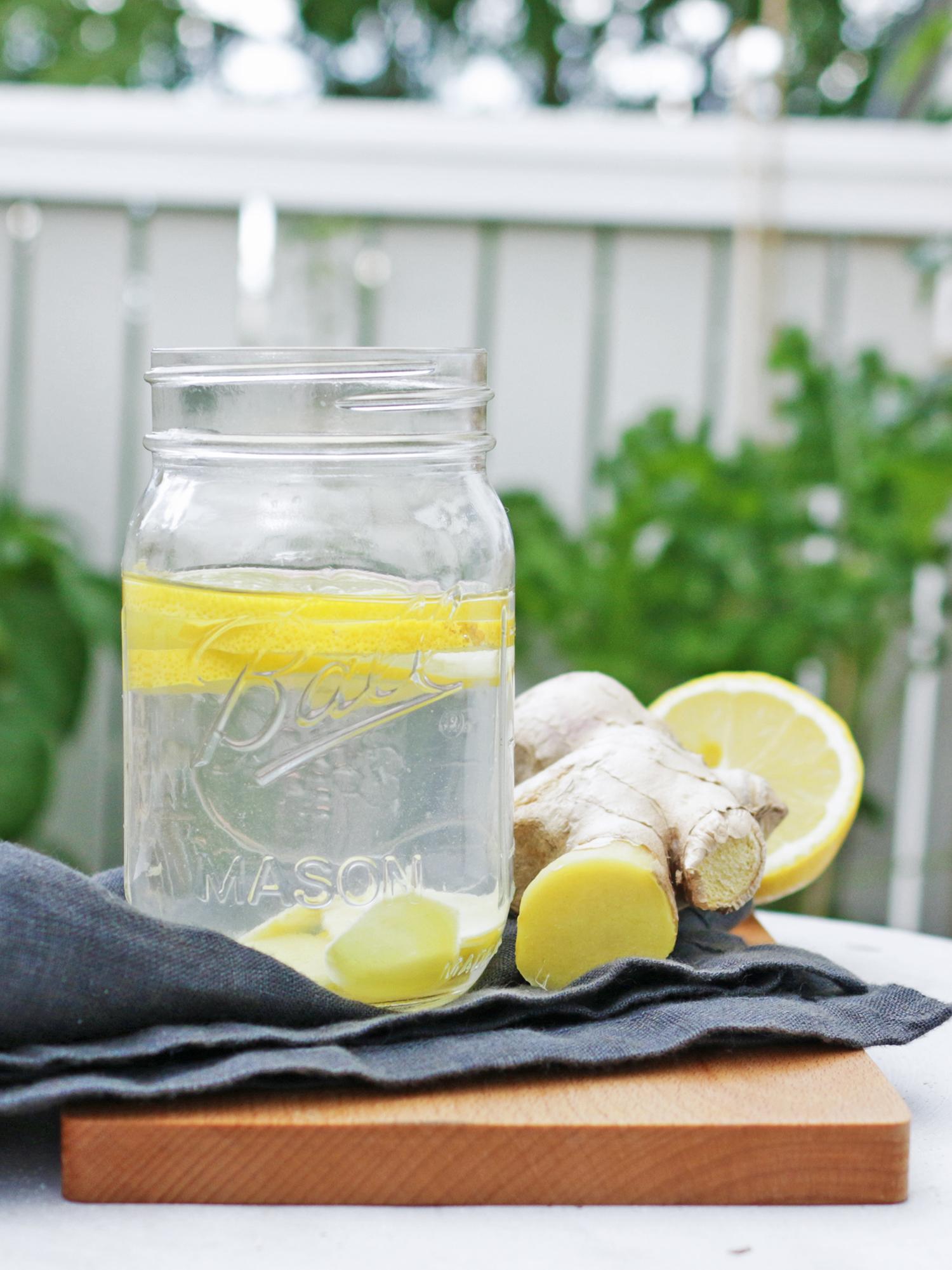 ingefära citron dryck